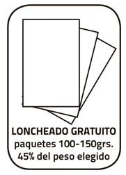 Jamon Loncheado (paquetes 100 - 150 Grs.) + taquitos sobrantes. Peso total 45% del peso elegido